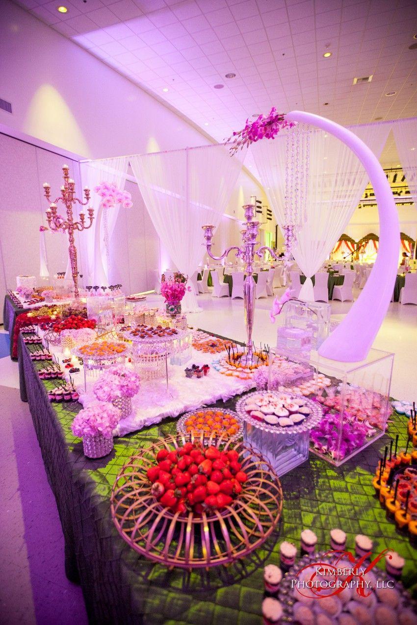 Pretty lighting accentuating this Dessert Lounge   Wedding/Event ...