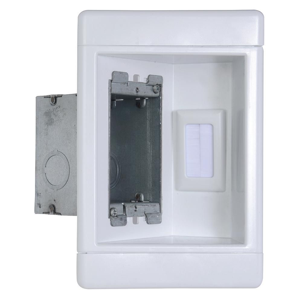 PASS & SEYMOUR/LEGRAND 1-Gang Recessed TV Media Box with Low
