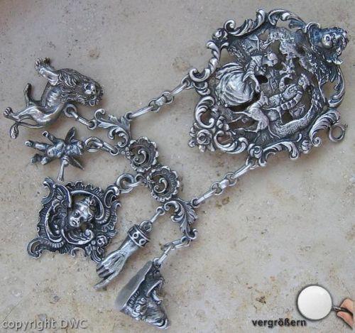 Trachtenrockstecker 800 Silber Rockstecker Trachten Tracht Antik Antiker 1870   eBay
