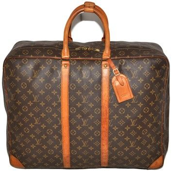 Louis Vuitton Sirius 55 Monogram Suitcase Luggage Unisex Brown Leather    Coated Canvas Weekend Travel Bag 76% off retail cbf0833970