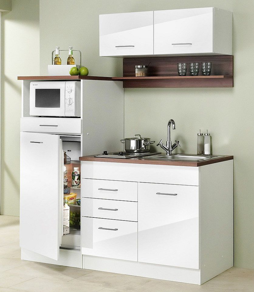 HELD MÖBEL Miniküche »Breite 160 cm«, Für kleine Räume