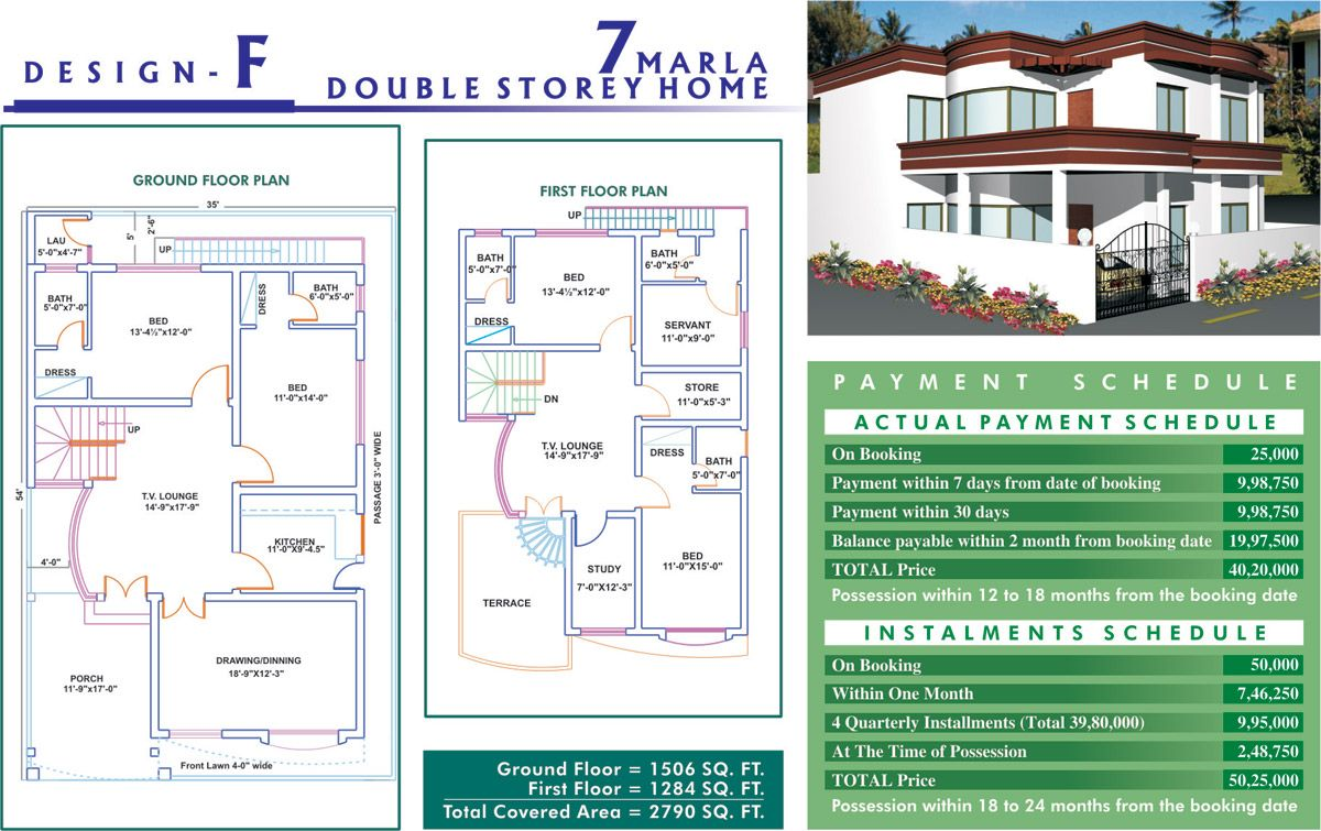 Home Design 7 Marla Part - 40: Of Most Modern Homes On Available Plots In Phase I 7 Marla Houses