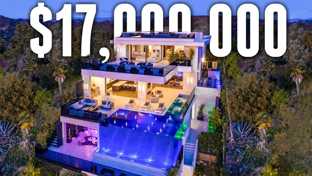 Inside A 17 Million Fully Customized Bel Air Mega Mansion Youtube Mega Mansions Bel Air Mansion Mansions