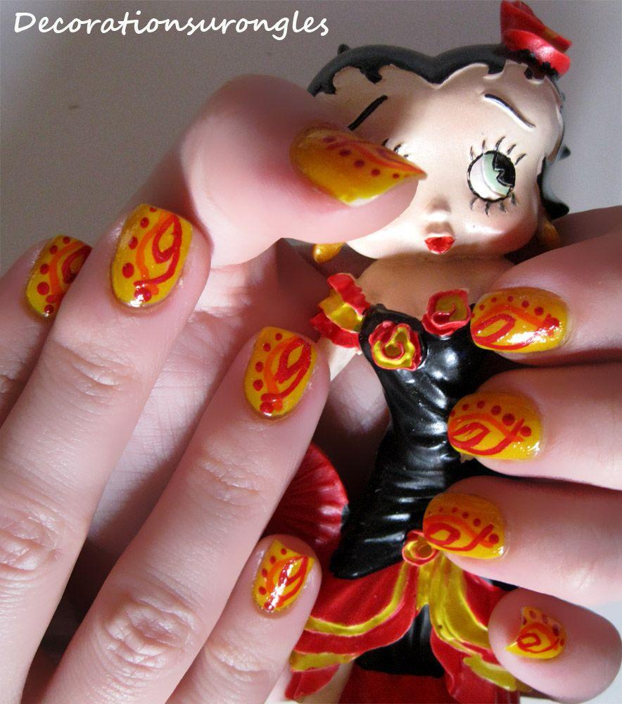 Betty Boop Nails: @Reagan Wilkins Spanish Betty Boop Nails