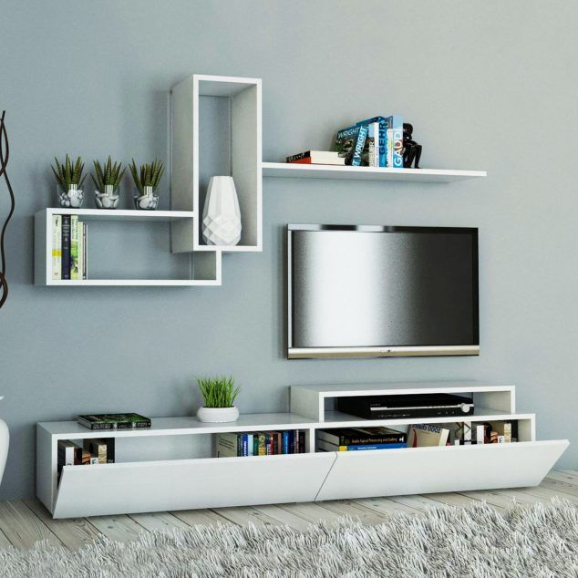 5 Living Rooms That Demonstrate Stylish Modern Design Trends: 15 Amazing TV Units That Demonstrate Stylish Trends In