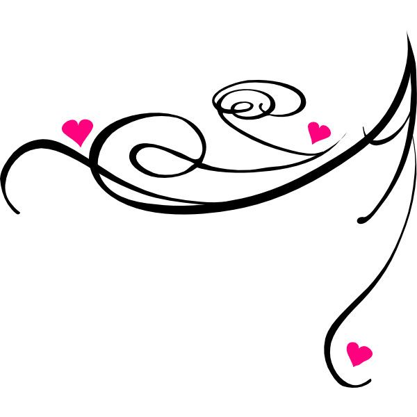pink and black decorative swirl clip art liked on polyvore rh pinterest co uk  pure romance clipart