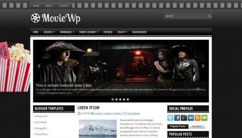 MovieWP 4 colums | Blogger Template (Movie) | Pinterest | Template