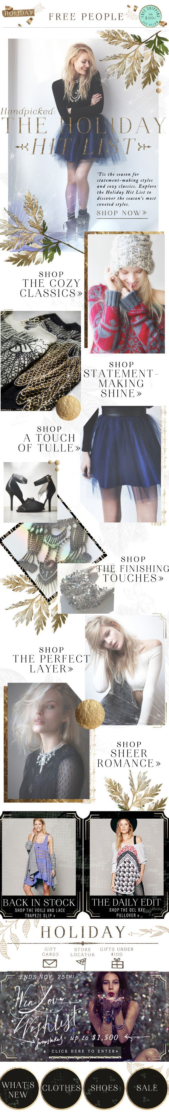 Free People | newsletter | fashion email | fashion design | email ...