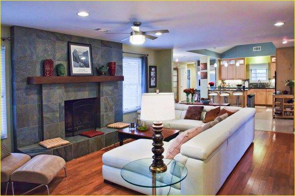 37 cozy splitlevel living room fireplace design ideas
