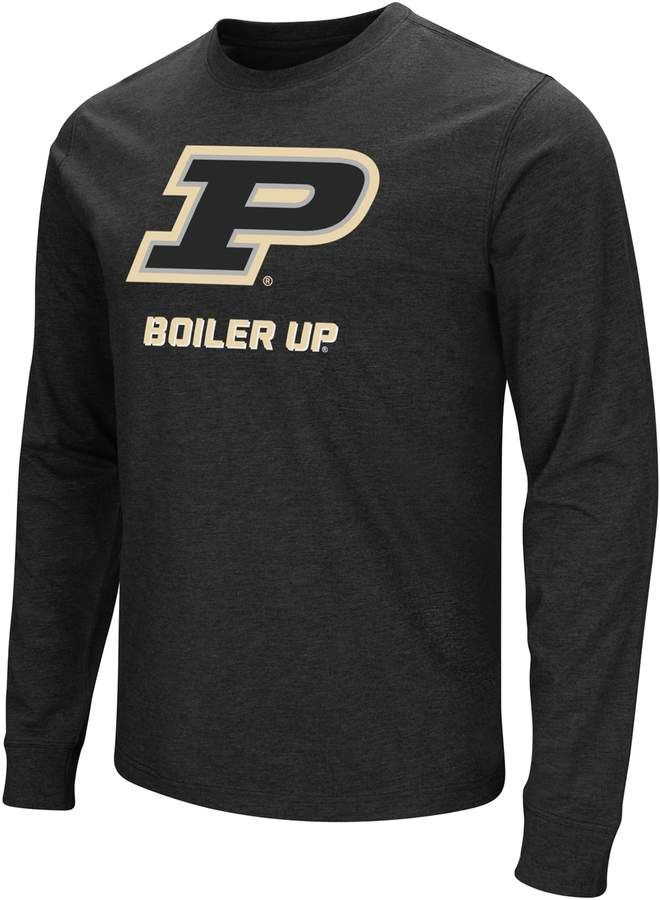 best service d7b50 55aaf Men s Campus Heritage Purdue Boilermakers Logo Long-Sleeve Tee