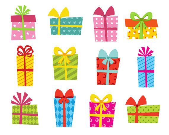 Presents Clip Art Bright Gift Boxes Clip Art Giftbox Clip Art