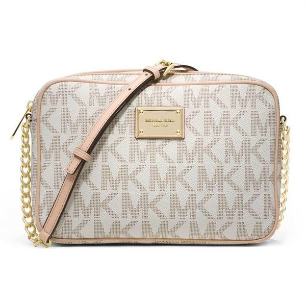 Michael Kors Jet Set Vanilla Signature Crossbody Handbag 25b8bb43c42