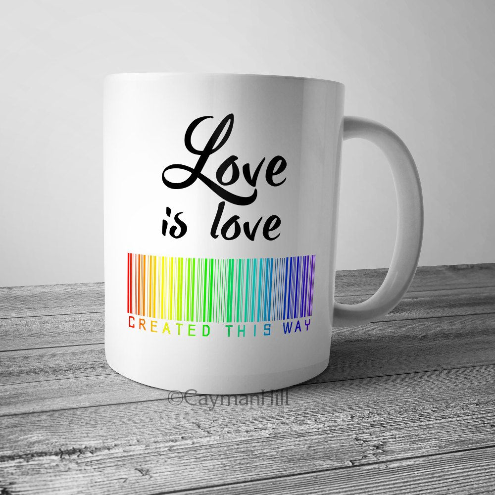 pride coffee mug love is love created this way coffee cup lgbt