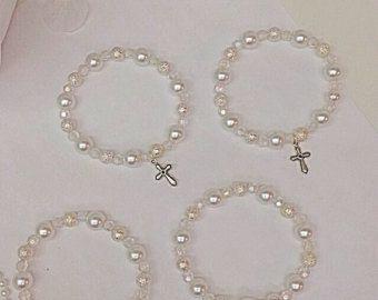 dba26a21bfd Pulseras rosario de perlas de cristal hermoso. por Beautifyyou ...
