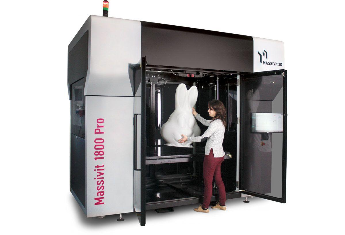 Massivit 3d Stellt Mit Massivit 1800 Pro Neuen Grossformat 3d Drucker Vor 3d Drucker Schliessfacher Drucken