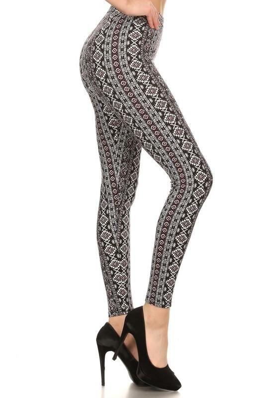 9f377a053e6f3 Poly Brushed Aztec Print Leggings | Products | Aztec print leggings ...