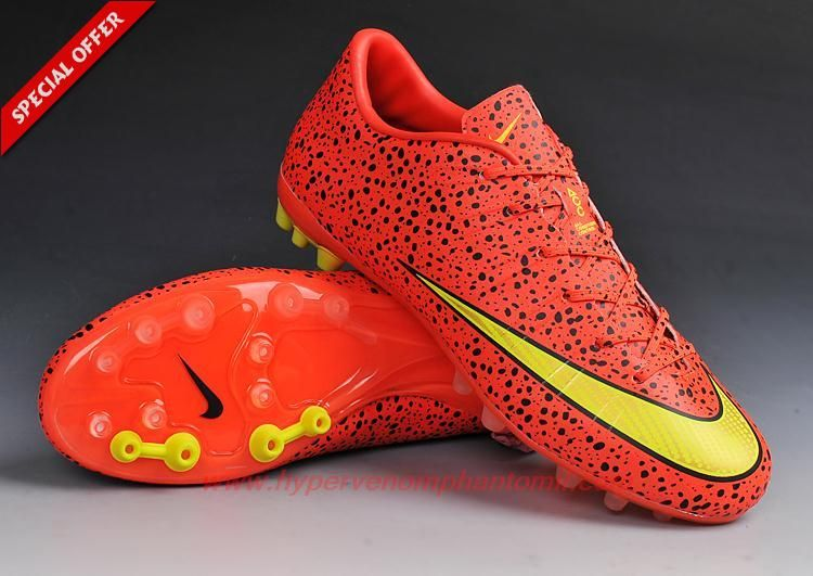 Mens-Womens Nike Mercurial Vapor 10 Superfly IIII X AG Leopard Red/Yellow  Fast