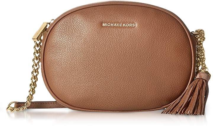 7ff65bda9688 Michael Kors Ginny Luggage Pebble Leather Medium Messenger . Stylish and  chic