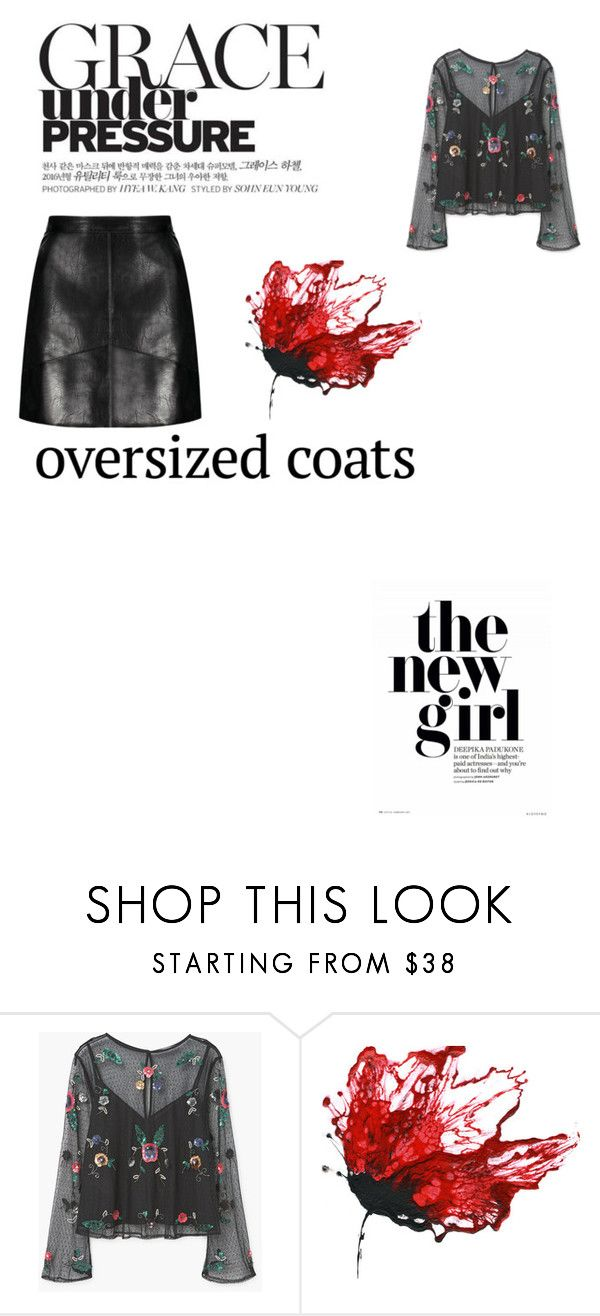 """""""dark"""" by danielle-madeiro ❤ liked on Polyvore featuring MANGO"""