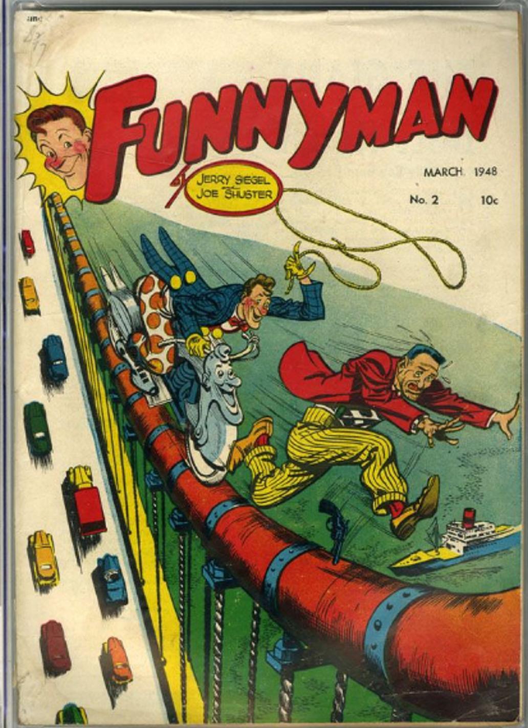 Funnyman 2 March 1948 Cover Art Cover Art Comics Classic Comics