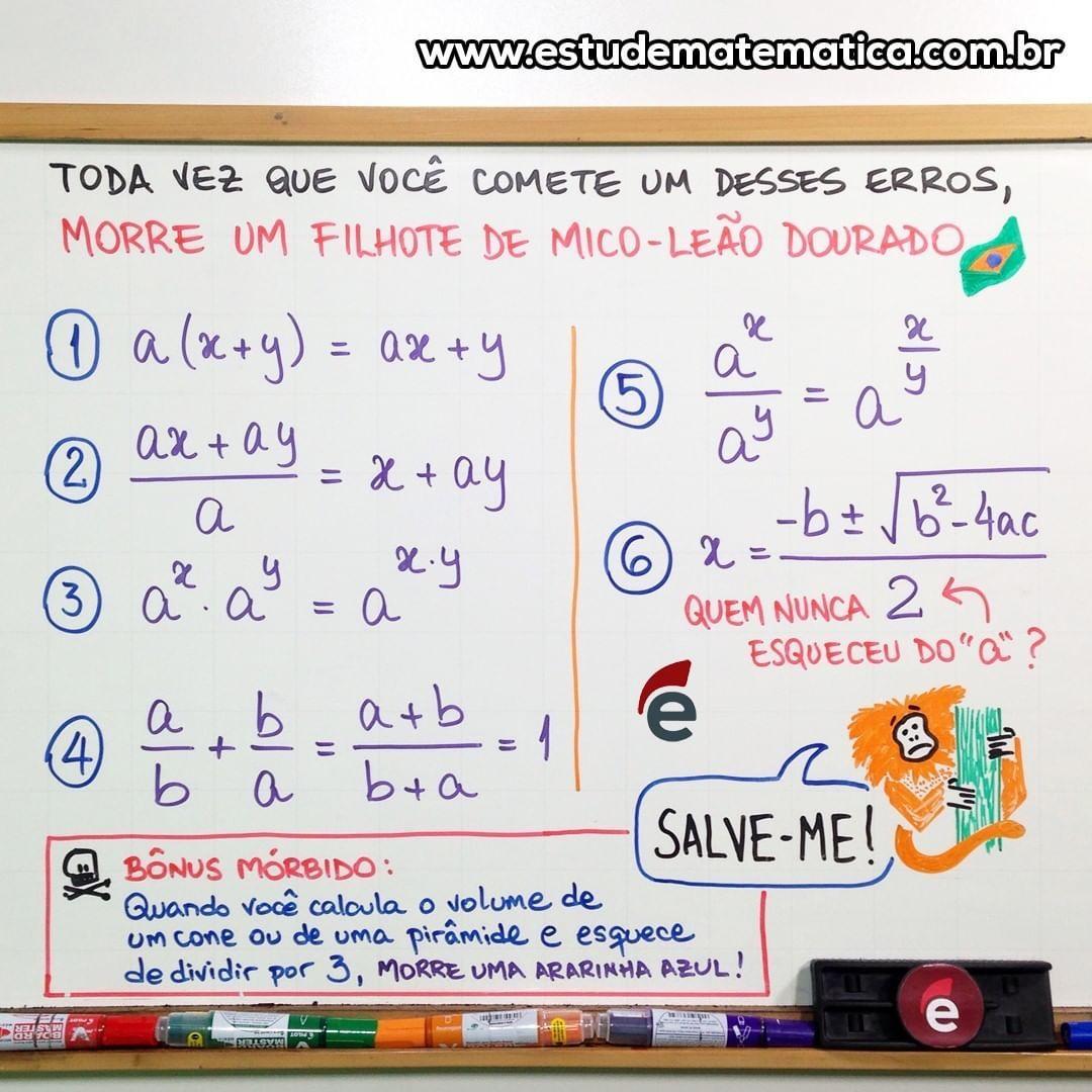 Estude Matematica On Instagram Vale A Pena Ver De Novo Nao Sao