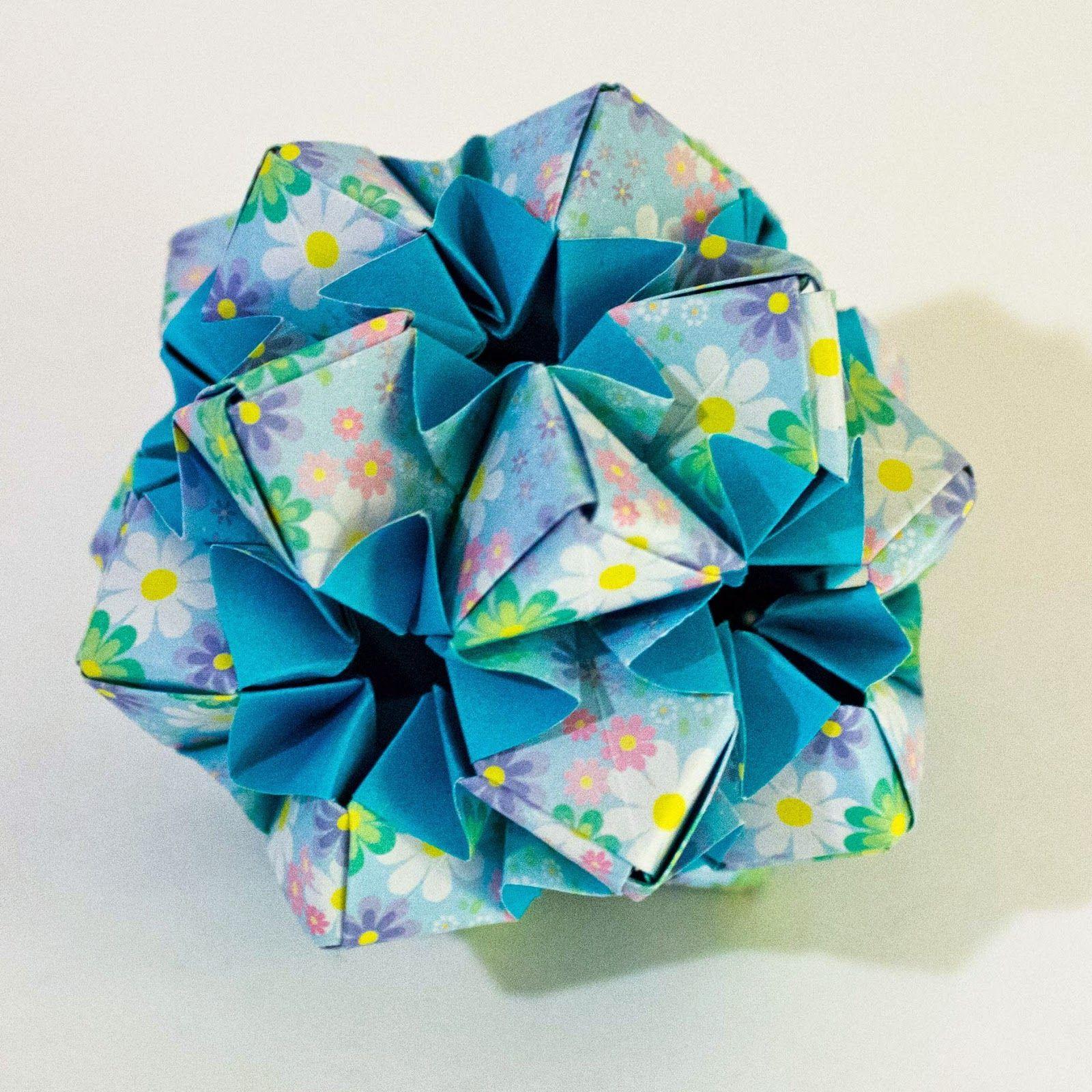 Star flower design by meenakshi mukerji folded from two sided star flower design by meenakshi mukerji folded from two sided origami paper by mightylinksfo Gallery