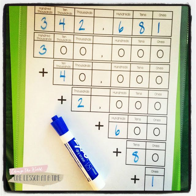 expanded form 6 digits  Writing 5-Digit Numbers in Expanded Form | Math school, Math ...