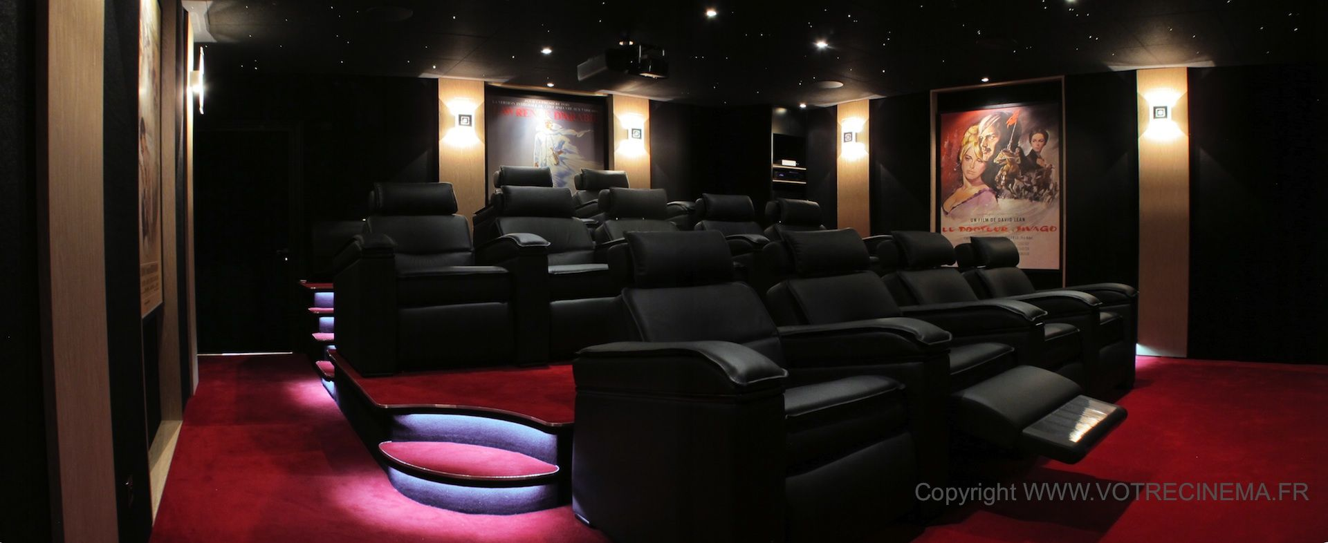 Unique Luxury  U0026 Private Home Cinema Made For A 45 M2 Room In The South Of France  This Room Was