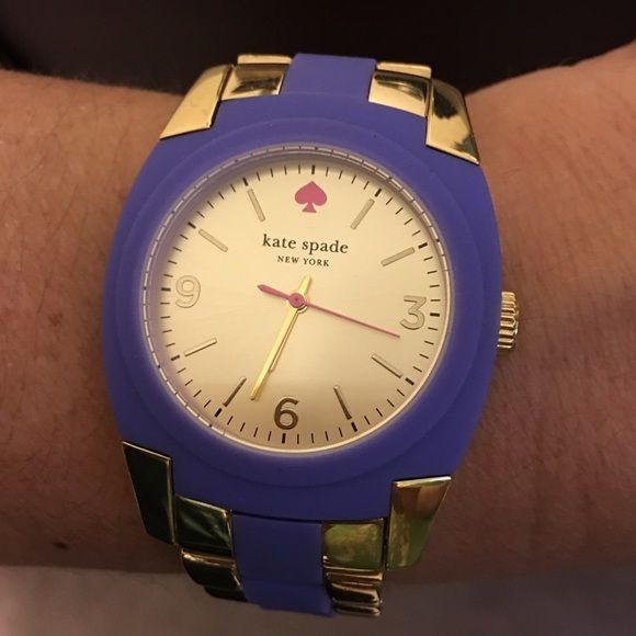 Kate Spade Purple and Gold Watch, excellent cond. Awesome watch! All original links are still in. Can be adjusted by a jeweler though. kate spade Accessories Watches