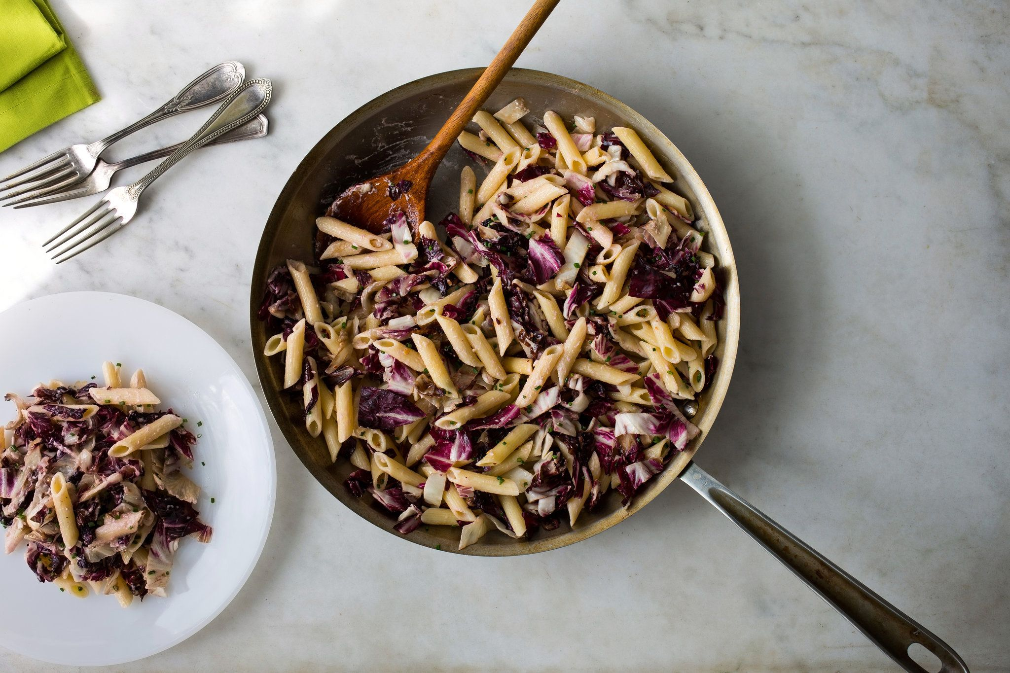 Penne With Radicchio and Goat Cheese by Martha Rose Shulman