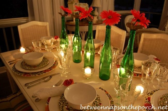 Easy Centerpiece for a Spring Table Setting & Easy Centerpiece for a Spring Table Setting | Candlelight dinner ...