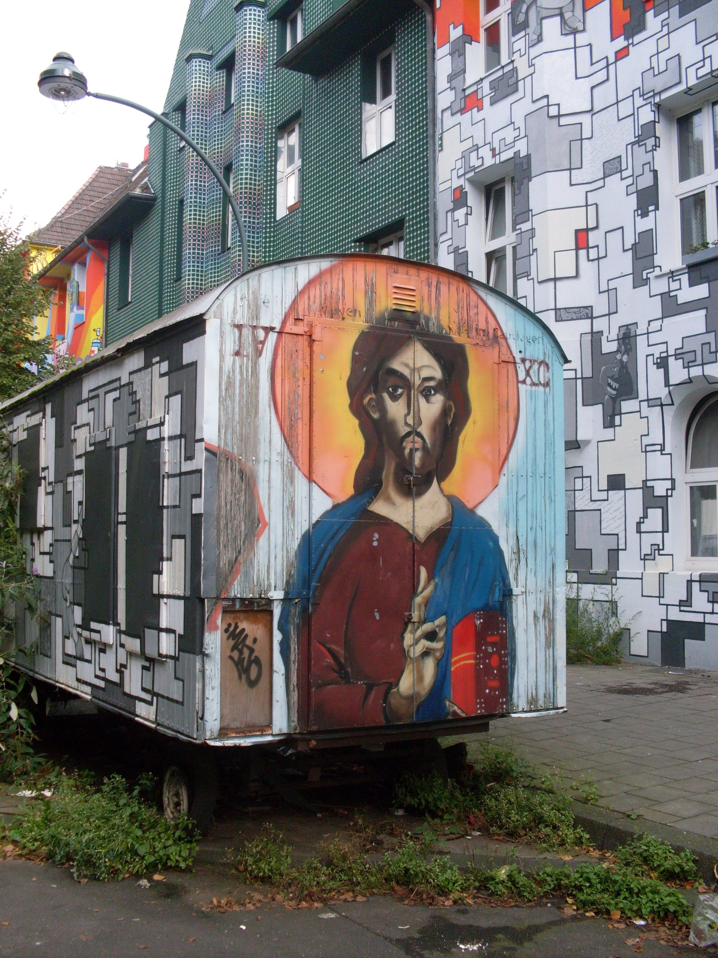 Graffiti Düsseldorf kiefernstr in düsseldorf germany