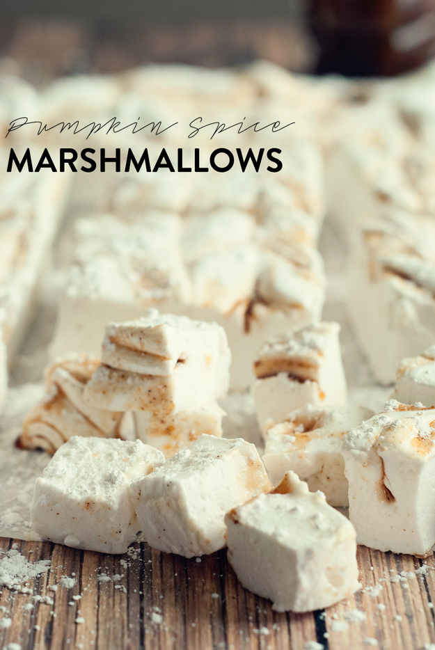 Pumpkin Spice Latte Marshmallows #marshmallows