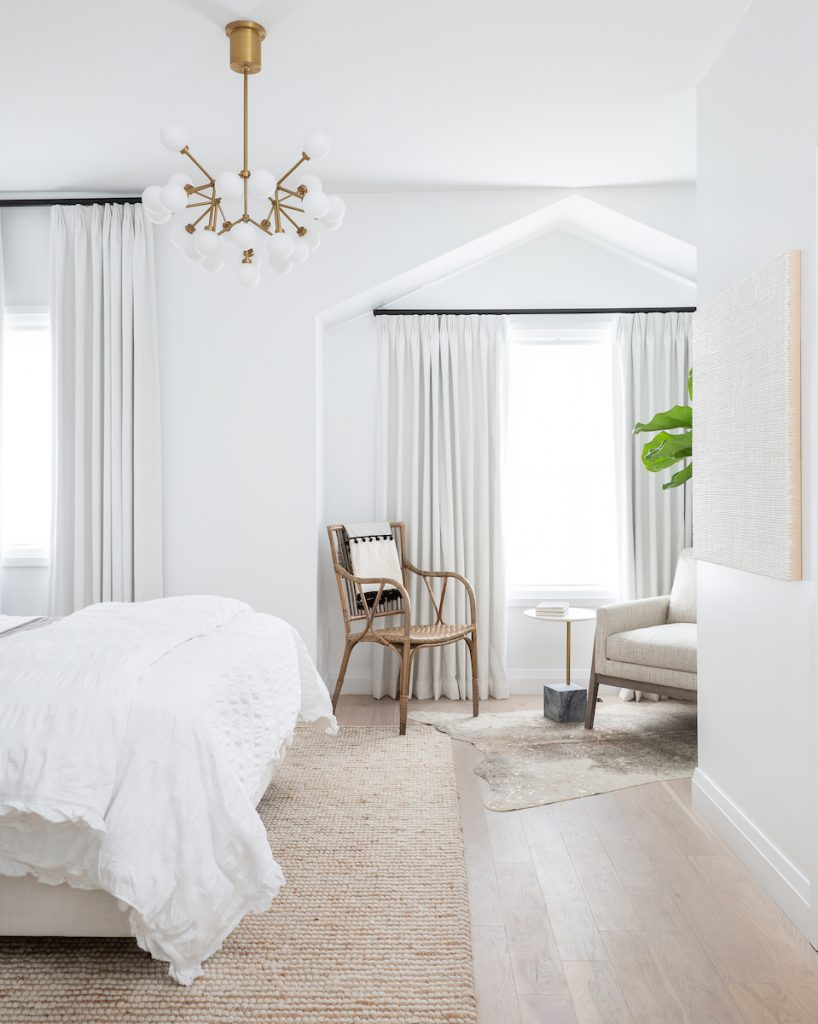 White Bohemian Bedroom With Layered Rugs And Bedding By Calgary Interior Design White In 2020 Bedroom Inspirations Master Bedroom Makeover Interior Design Bedroom