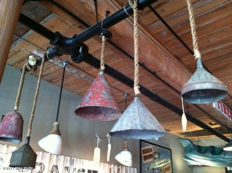 primitive lighting ideas. Old Funnel Light Fixtures. Primitive Lighting Ideas G