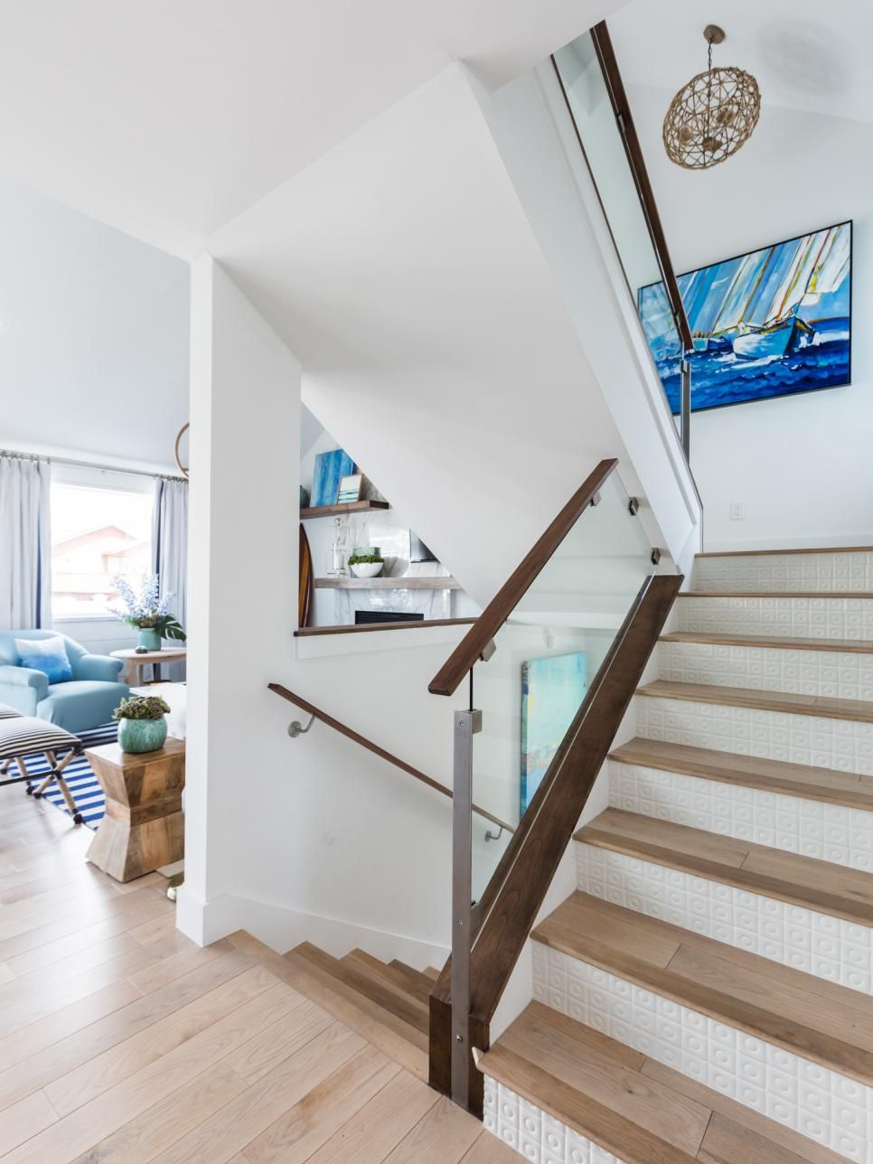 Coastal Chic Living Room Transformations from Drew and Jonathan ...