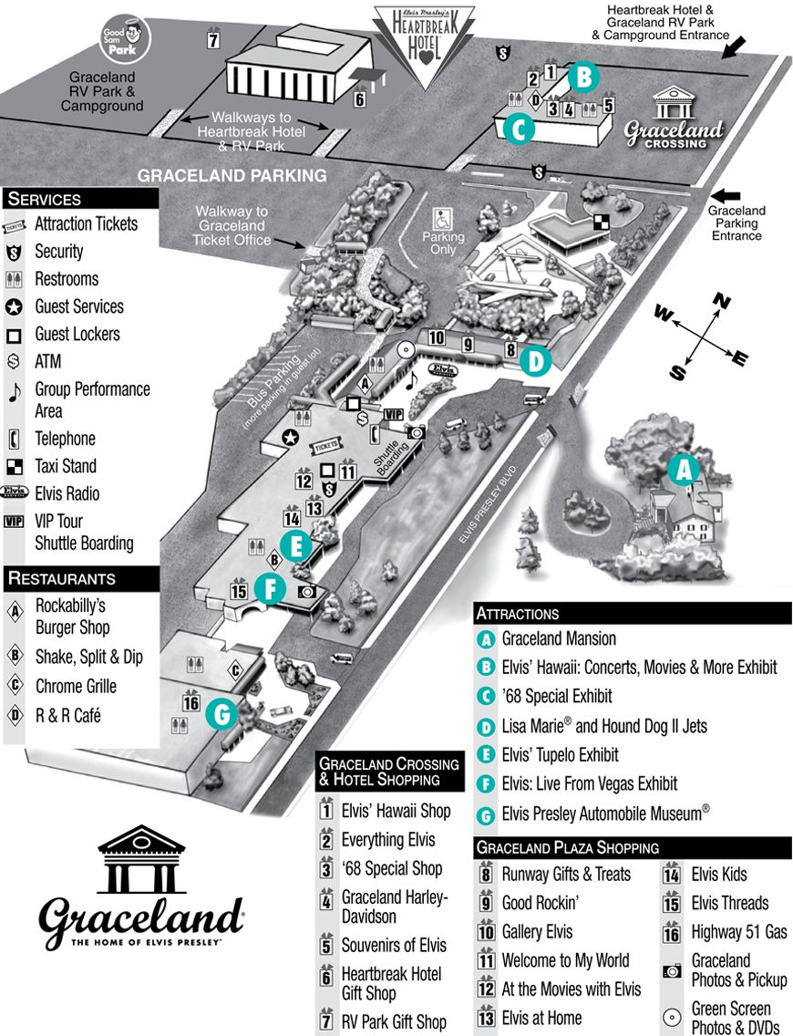 map of graceland memphis tn Graceland Property Map Elvis Presley S Graceland Elvis Presley map of graceland memphis tn