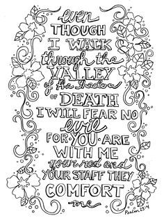 Ps 234 BW PRINTABLES Pinterest Printable bookmarks Psalm 23