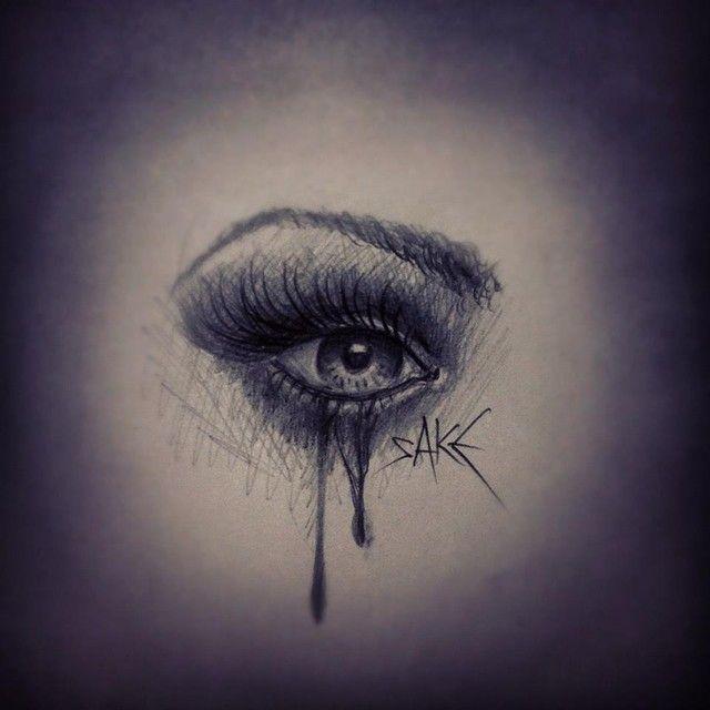 0b1d8ee5378c7 Weeping Eye Tattoo Design   eyes and lips in 2019   Crying eyes, Eye ...