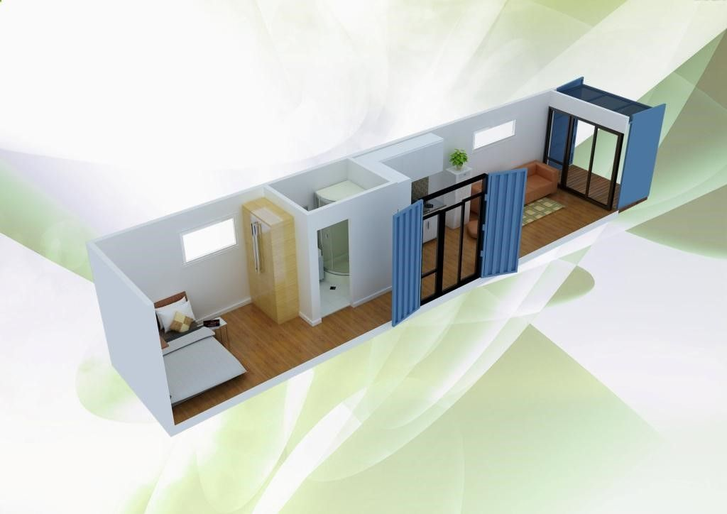 House · Container House   Simple And Minimalist Shipping Container Home  Design Plan ...