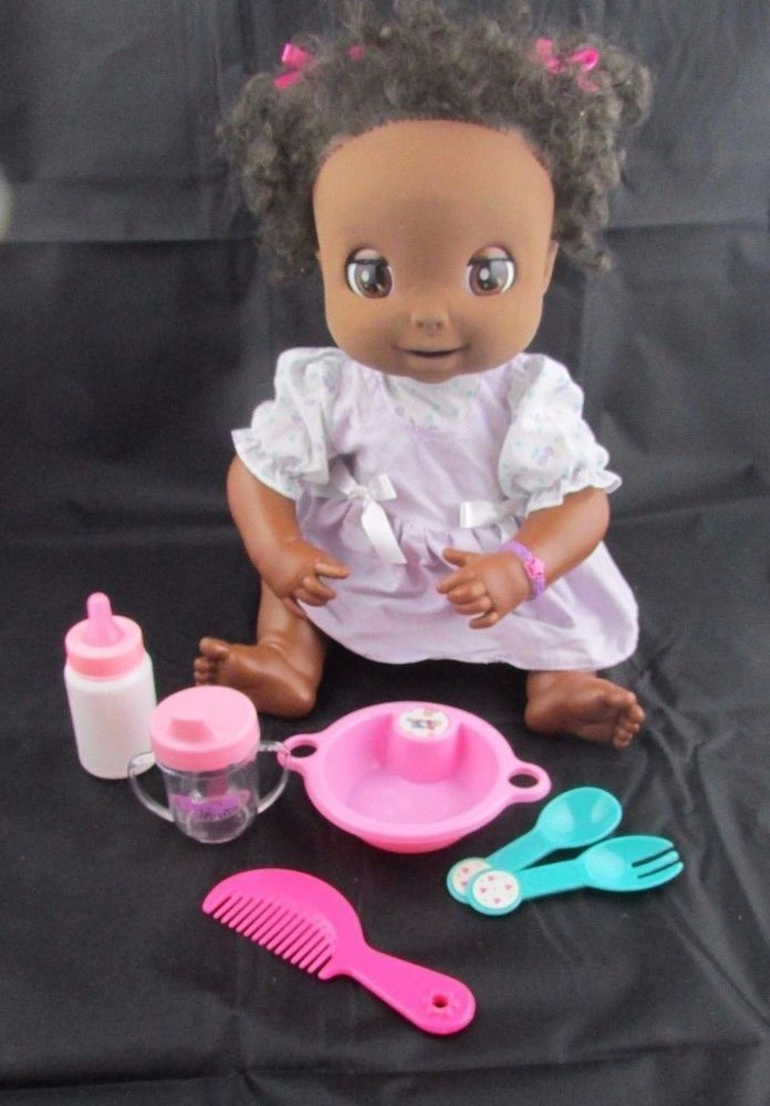2006 Baby Alive Soft Face Doll African American Black Aa