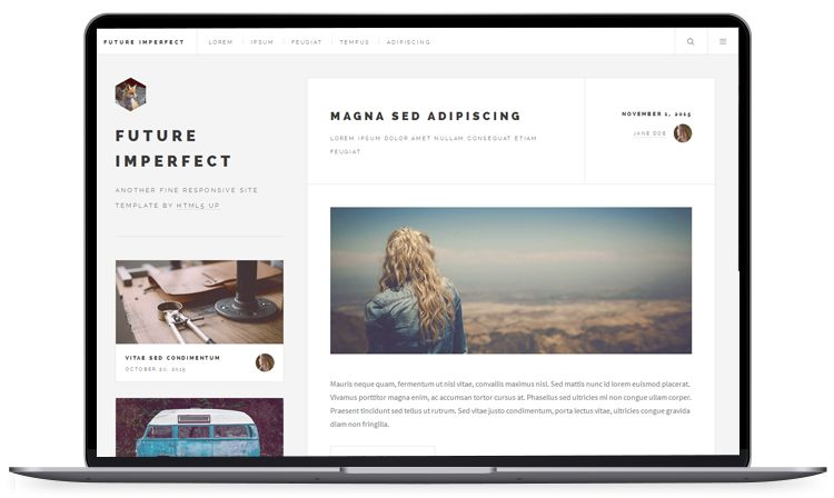 Blog Website Templates Futureimperfect  Blog Website Templates  100 Free Html5
