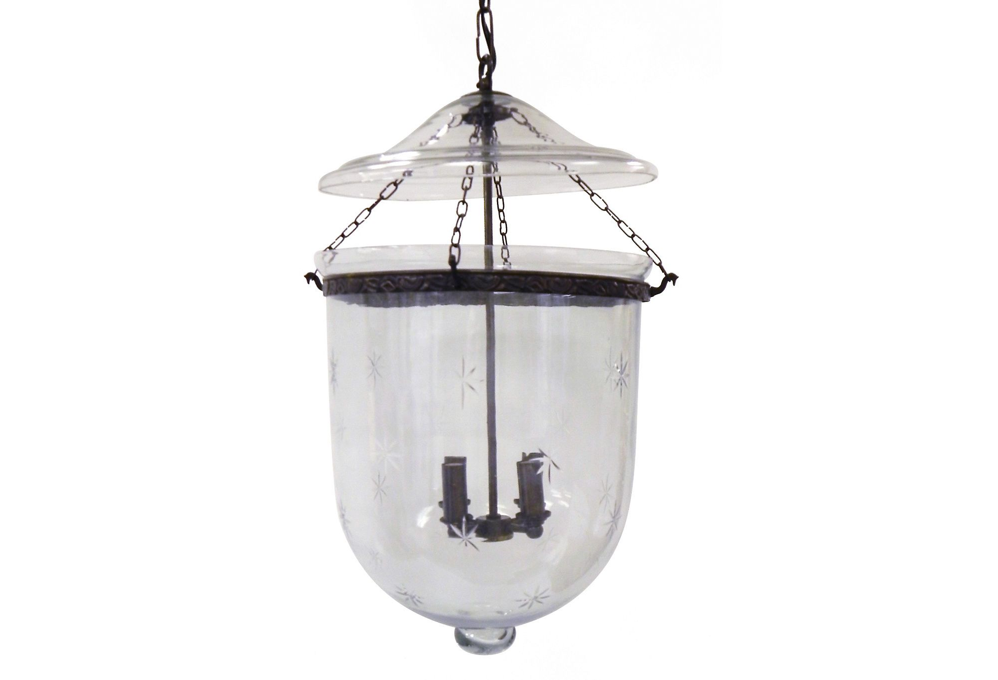 Star cut bell jar chandelier jar chandelier bell jars and chandeliers one kings lane in the dining room star cut bell jar chandelier aloadofball Image collections