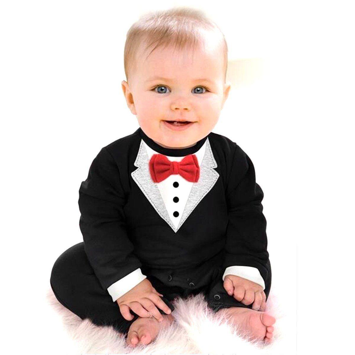 M2cbridge Baby Boy Formal Party Wedding Tuxedo Gentleman Romper Jumpsuit (70cm) -- Awesome products selected by Anna Churchill