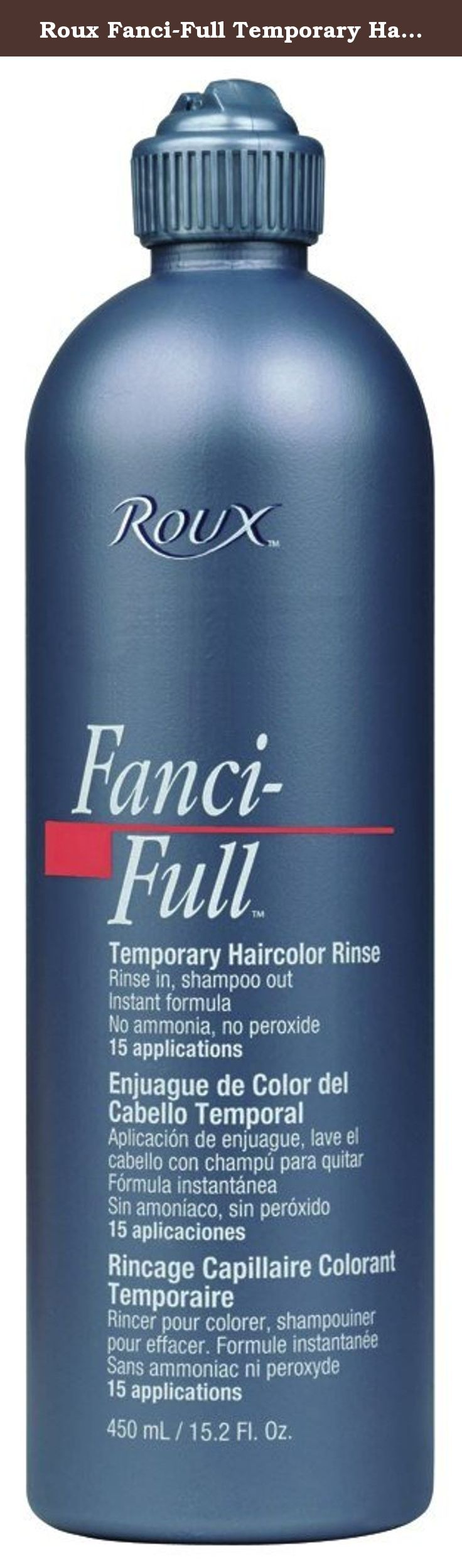 Roux Fanci Full Temporary Hair Color Rinse 21 Plush Brown 15 Oz