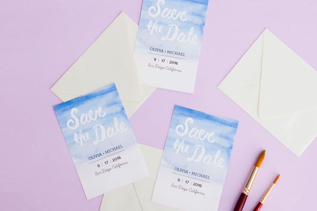 make your own save the dates with watercolor and illustrator