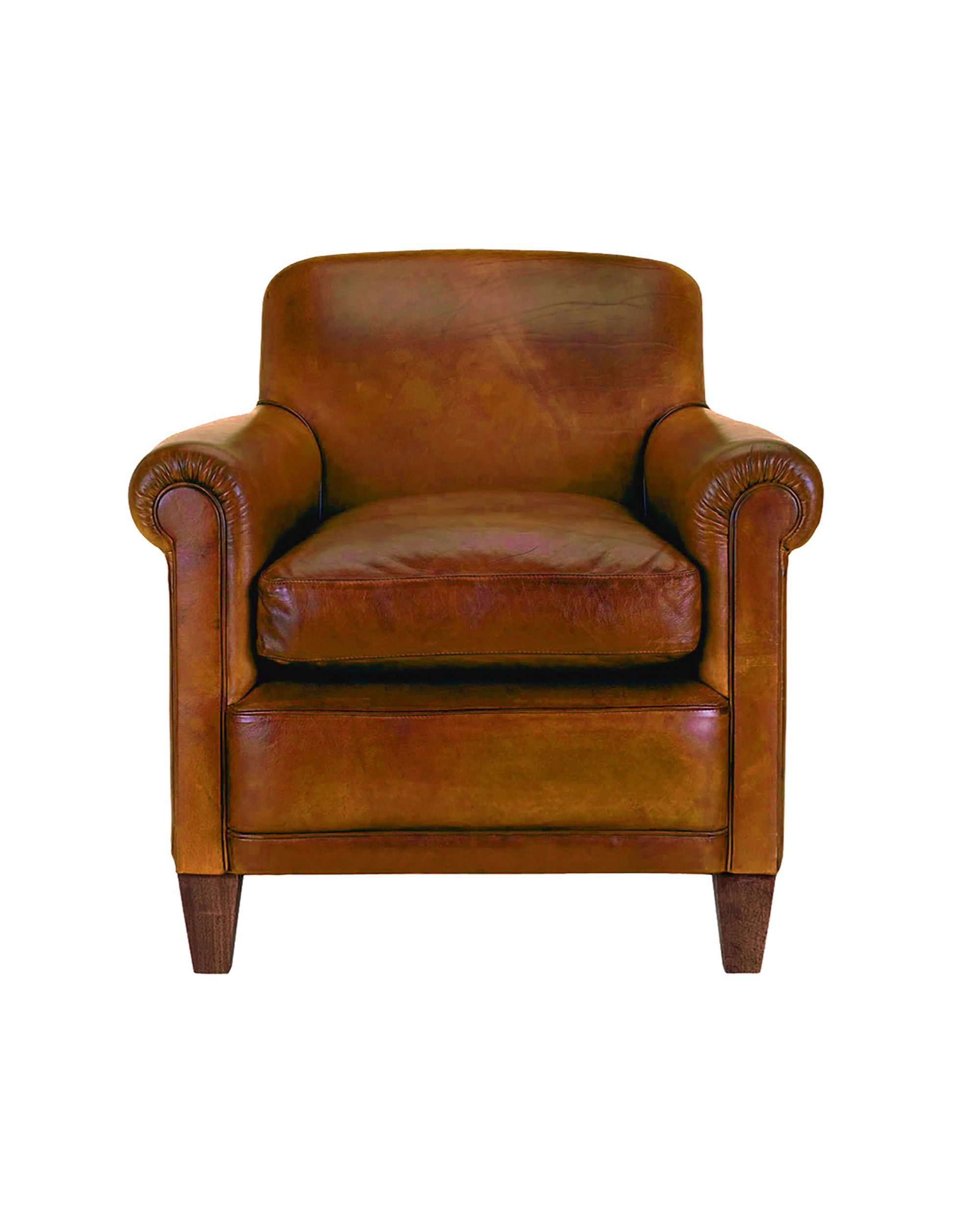 Made to order Sofas Burlington Leather Chair in Distressed