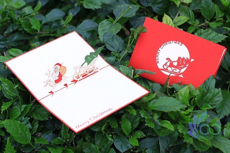 Santa And Carriage Pop-up Cards