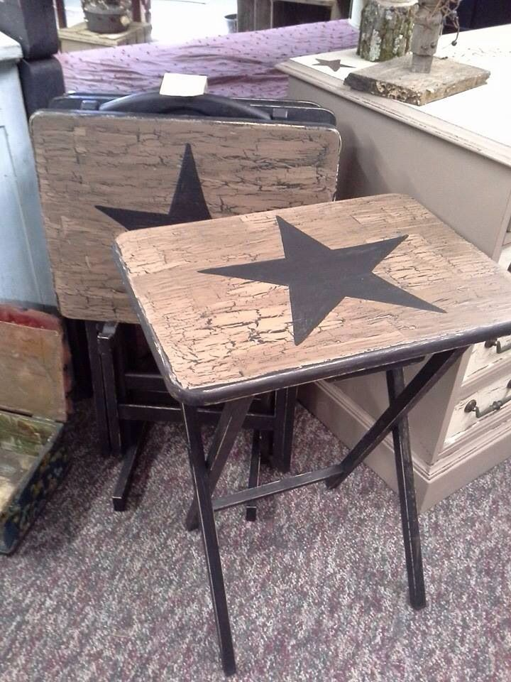 Tv Trays Primitive Decor Tv Tray Makeover Wooden Tv