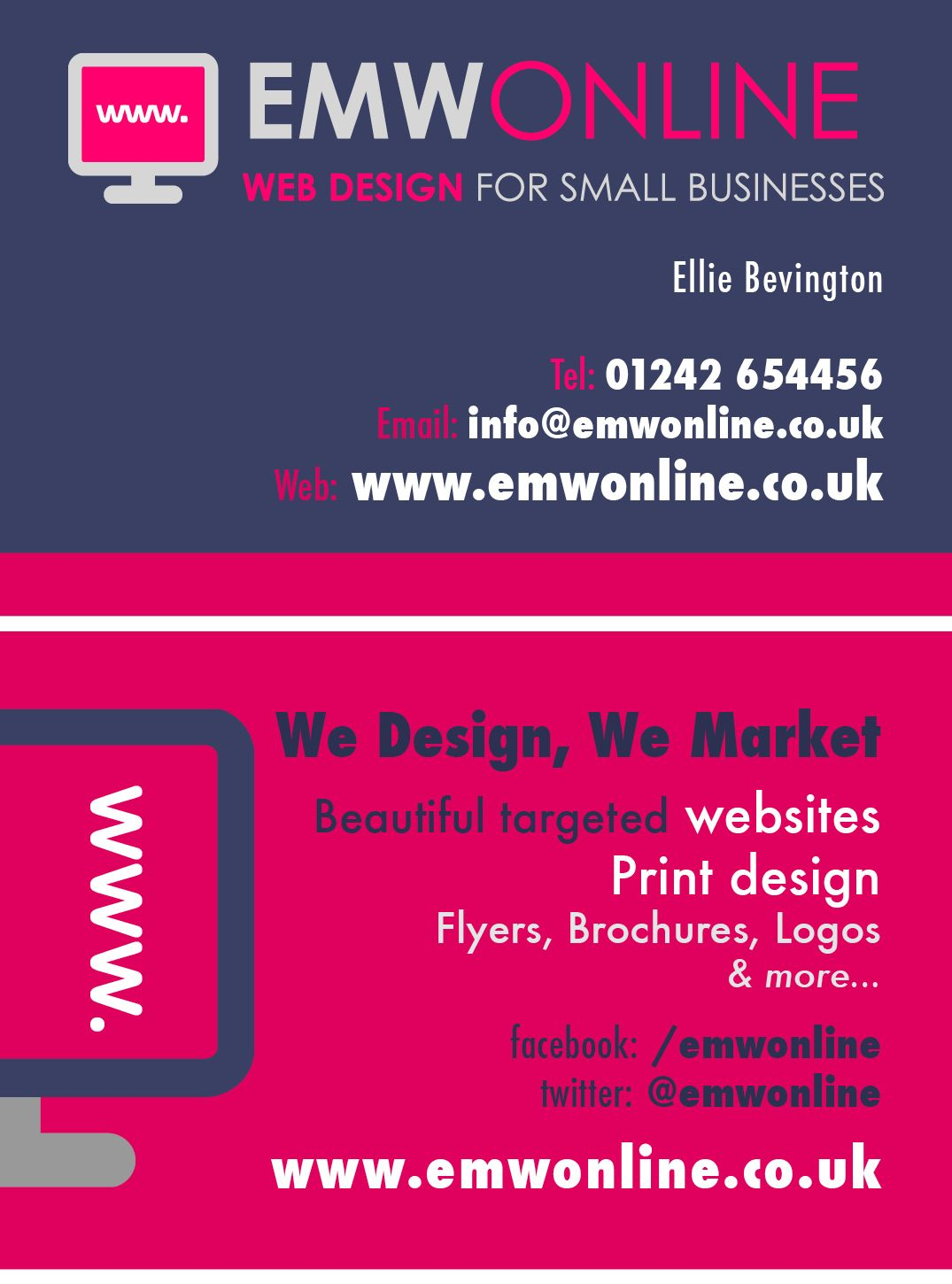 Our Newly Design Business Cards For Emwonline Web Design Print Design Flyer Web Design Business Card Design